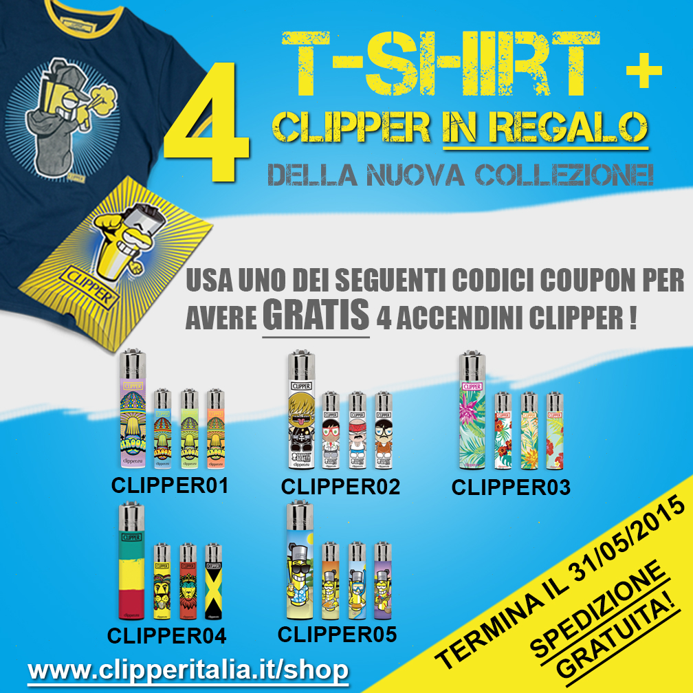 Promo Clipper T-Shirt Maggio 2015